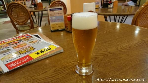 兵庫県神戸市新開地「アサヒ カプセル&サウナ」ビール画像