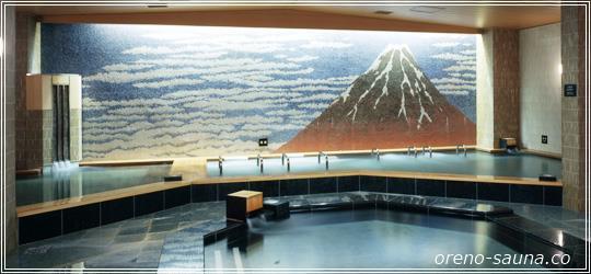 「両国湯屋江戸遊」赤富士画像