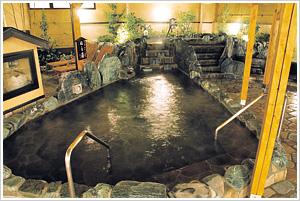 「小さな旅 川越温泉」露天風呂画像