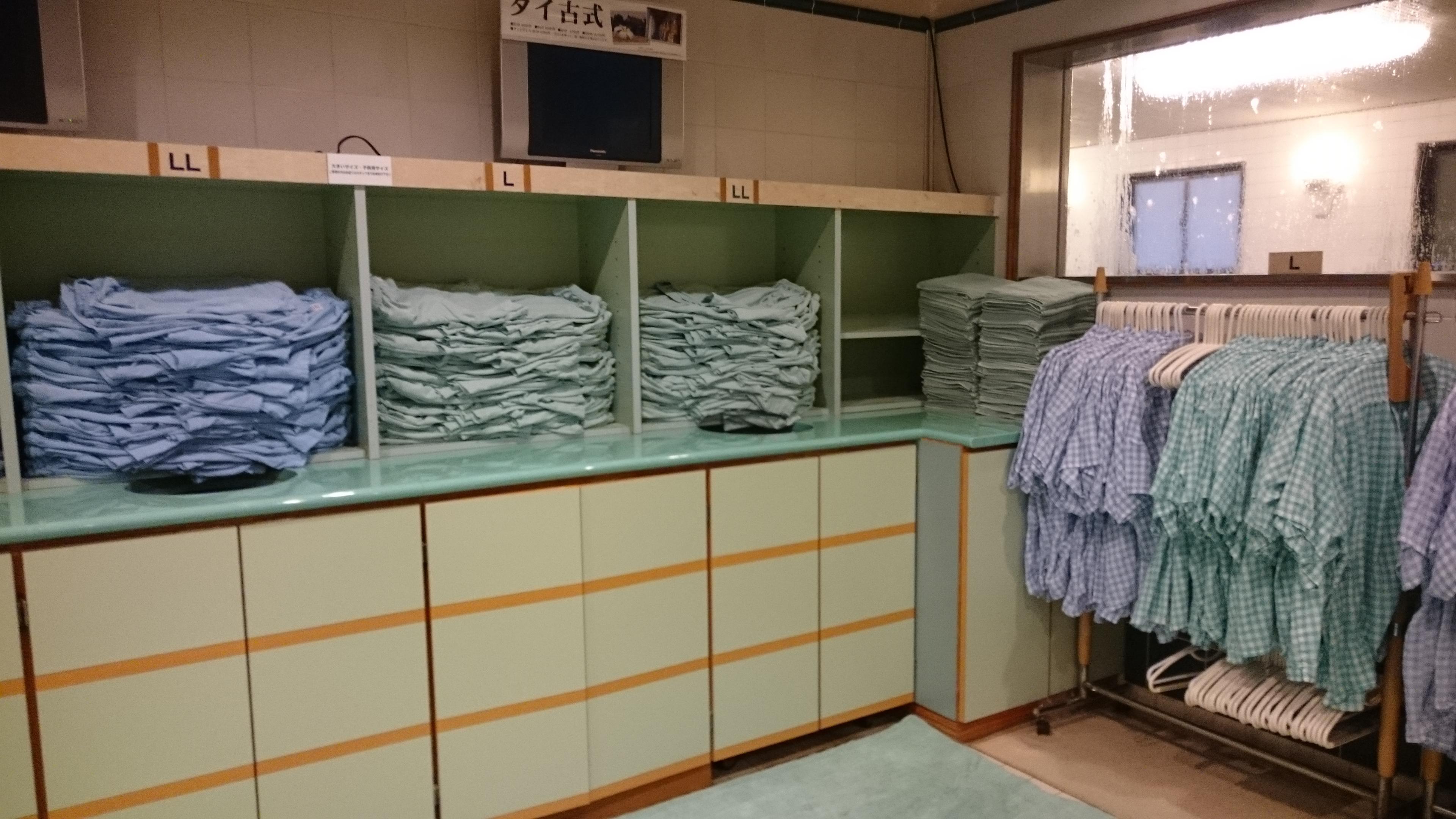 神戸三宮「神戸サウナ&スパ」館内着画像