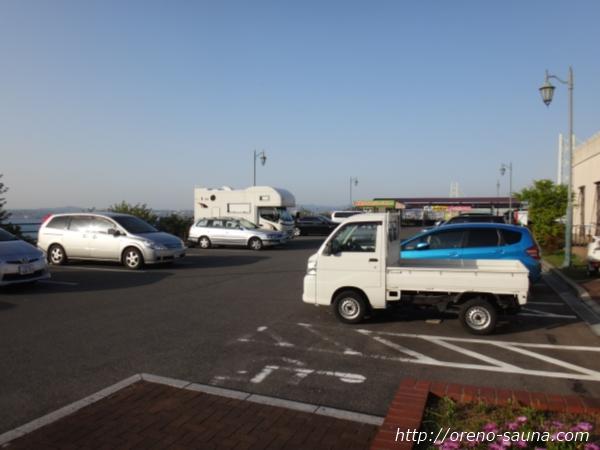 淡路島「美湯松帆の郷」駐車場画像