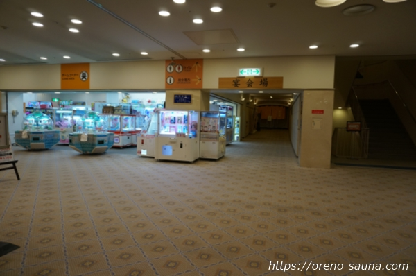 大阪府浪速区「スパワールド 世界の大温泉」宴会場入口画像