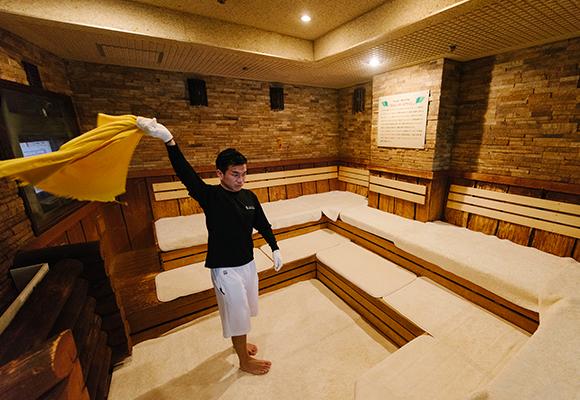 名古屋「ウェルビー栄店」タオルロウリュ画像