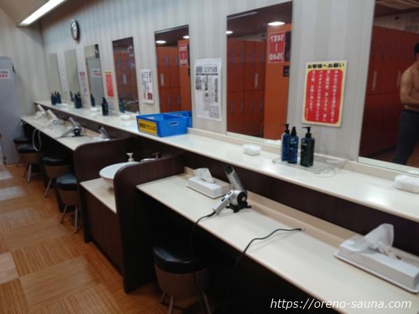 石川県金沢市「金沢ゆめのゆ」洗面所画像